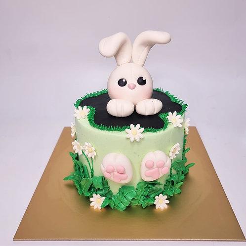 Cute Bunny Themed Cake