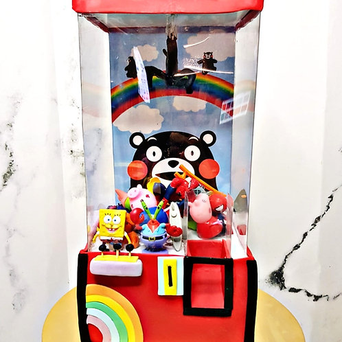 3D Claw Machine Toys Cake