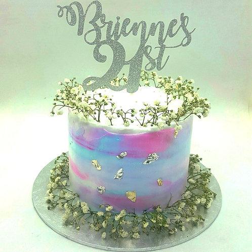 Pastel Baby Breath Cake