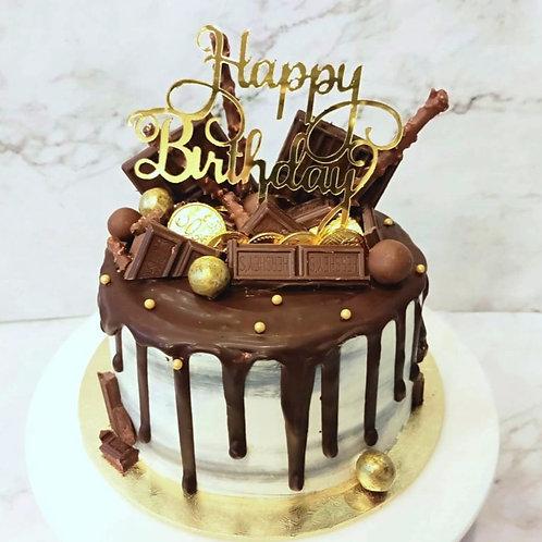 Chocolate Drip Money Pulling Cake 1