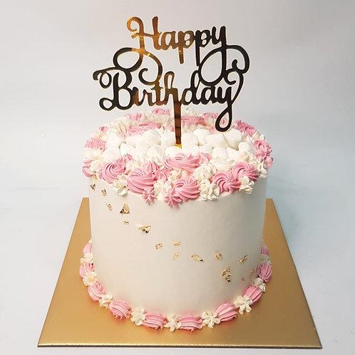 Pink Simple Money Pulling Cake