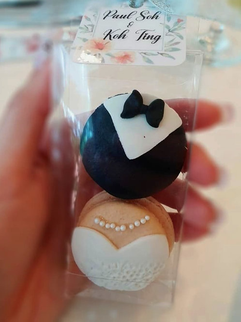 Groom And Bride Macarons Wedding Favours (10 boxes)