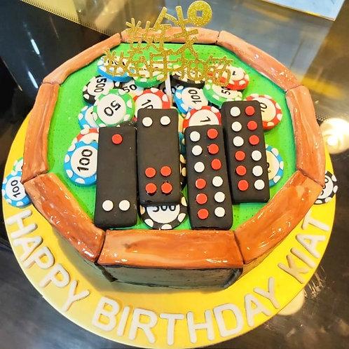 Casino '九捭- Pai Gow' Money Pulling Cake