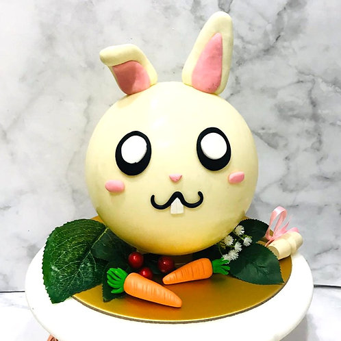 Cute Bunny  Rabbit Carrot Knock Knock Pinata Surprise Cake