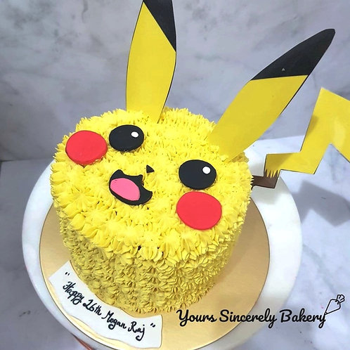 Pikachu Cream Cake