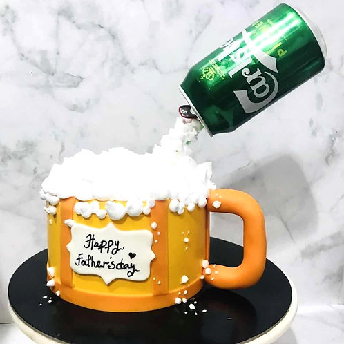 Flying Gravity Carlsberg Beer Mug Cake