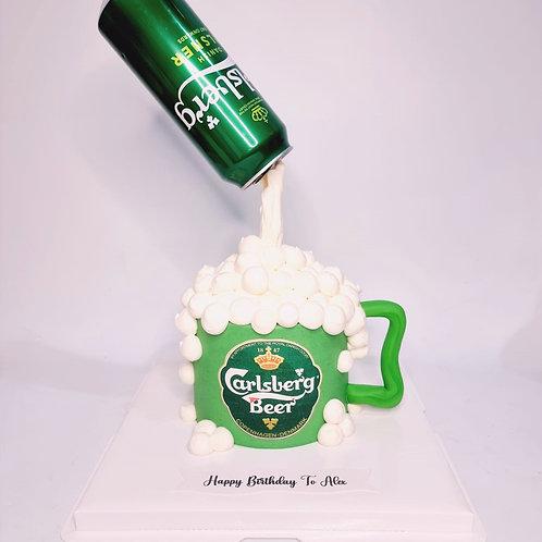 Carlsberg Beer Flying Gravity Cake