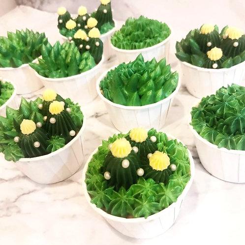 Customised Cactus Cupcakes (12PCS)