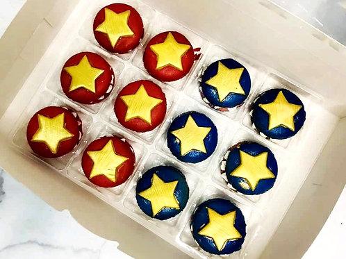 Wonderwoman Star Themed Macarons