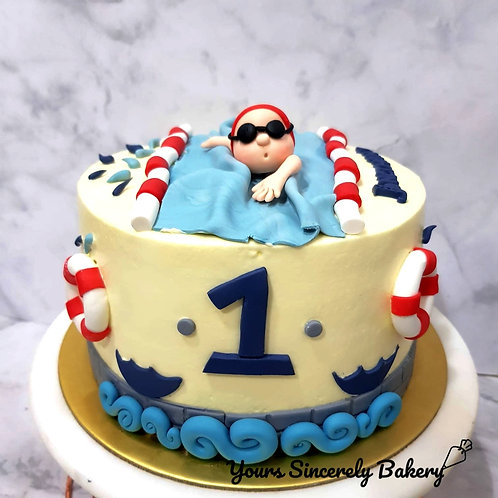 Swimming Championship Competition Cake
