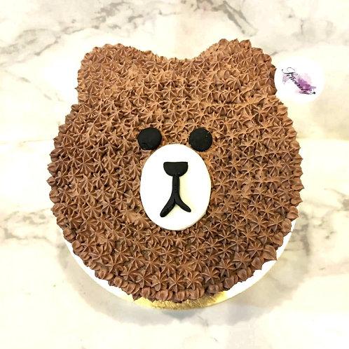 Line Bear Character Cream Cake