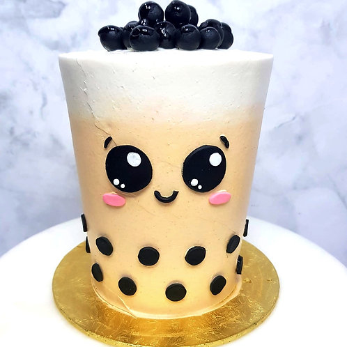 Real Bubble Tea Drink in a Cake 13