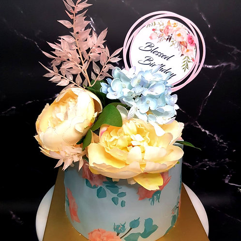 Floral Themed Cake