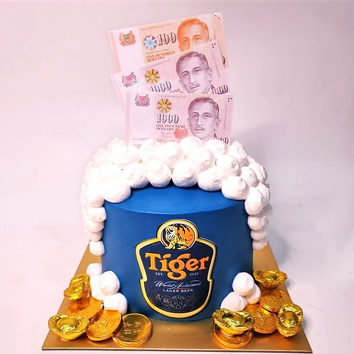 Tiger Beer Money Pulling Cake