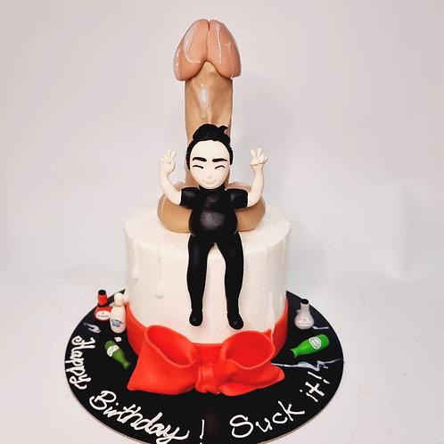 HENS NIGHT Dick Cake with Man
