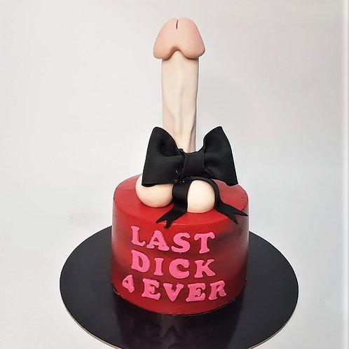 Black Ribbon Penis Dick Red Cake for Hens Night