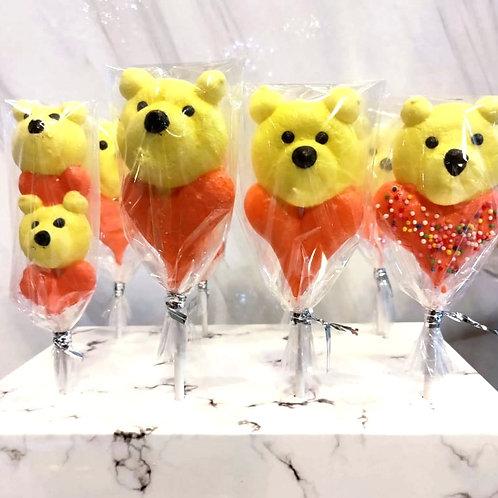 Bear Heart Meringue Lollipop Stick