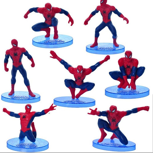 Superheroes Spiderman  Figurines (7pcs)