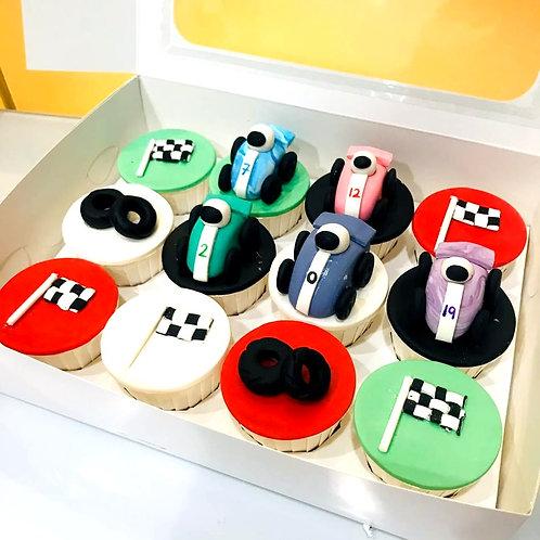 Racing Car Cupcakes (12pcs)
