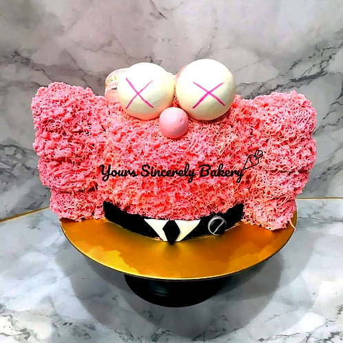 Pink Kaws Cake