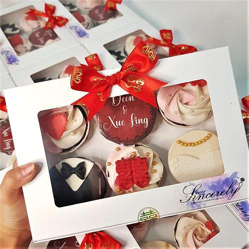 Wedding Guo Da Li Cupcakes (10 boxes)