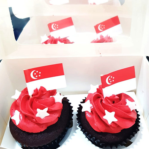 Singapore National Day Corporate Cupcakes