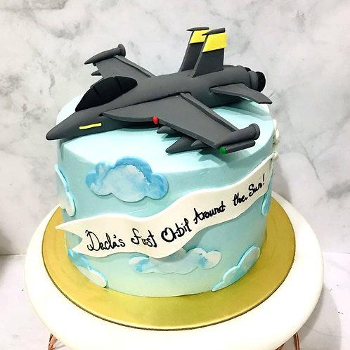 Fighter Jet F15-SG Aeroplane Sky Themed Cake