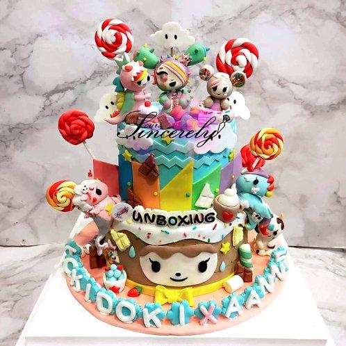 Tokidoki Two Tier Cake