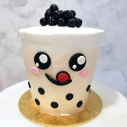 Real Bubble Tea Drink in a Cake 5
