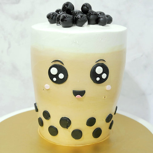 Real Bubble Tea Drink in a Cake 2
