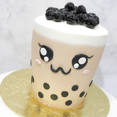 Real Bubble Tea Drink in a Cake 1