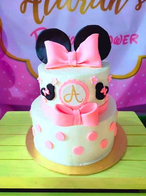 Pink Minnie Mouse Themed Cake