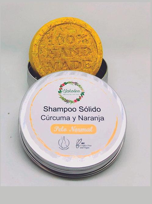 Shampo Solido Pelo Normal Naranja & Cúrcuma