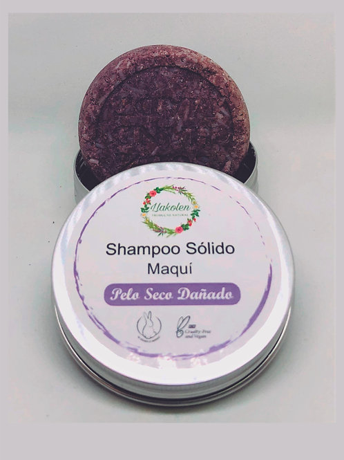 Shampoo Solido Pelo Seco y Dañado, Maqui & Rosas