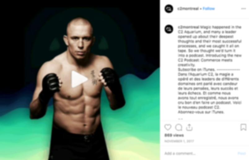 George St-Pierre Instagram Podcast Inter