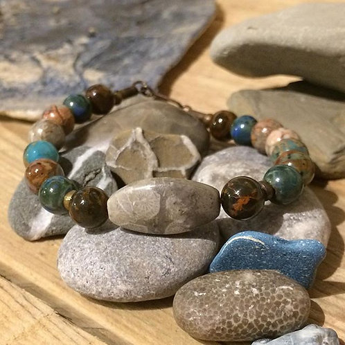 The Healer: Petoskey Stone Bracelet