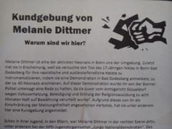 Kundgebung von Melanie Dittmer