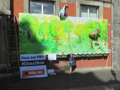 die Gegner des Braunkohletagebaus und der Hambacher Forst