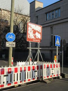 die Einsturzstelle des Kölner Stadtarchivs
