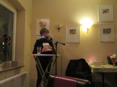 Krimilesung mit Alexa Thiesmeyer im Café Cowico in Bonn-Bad Godesberg
