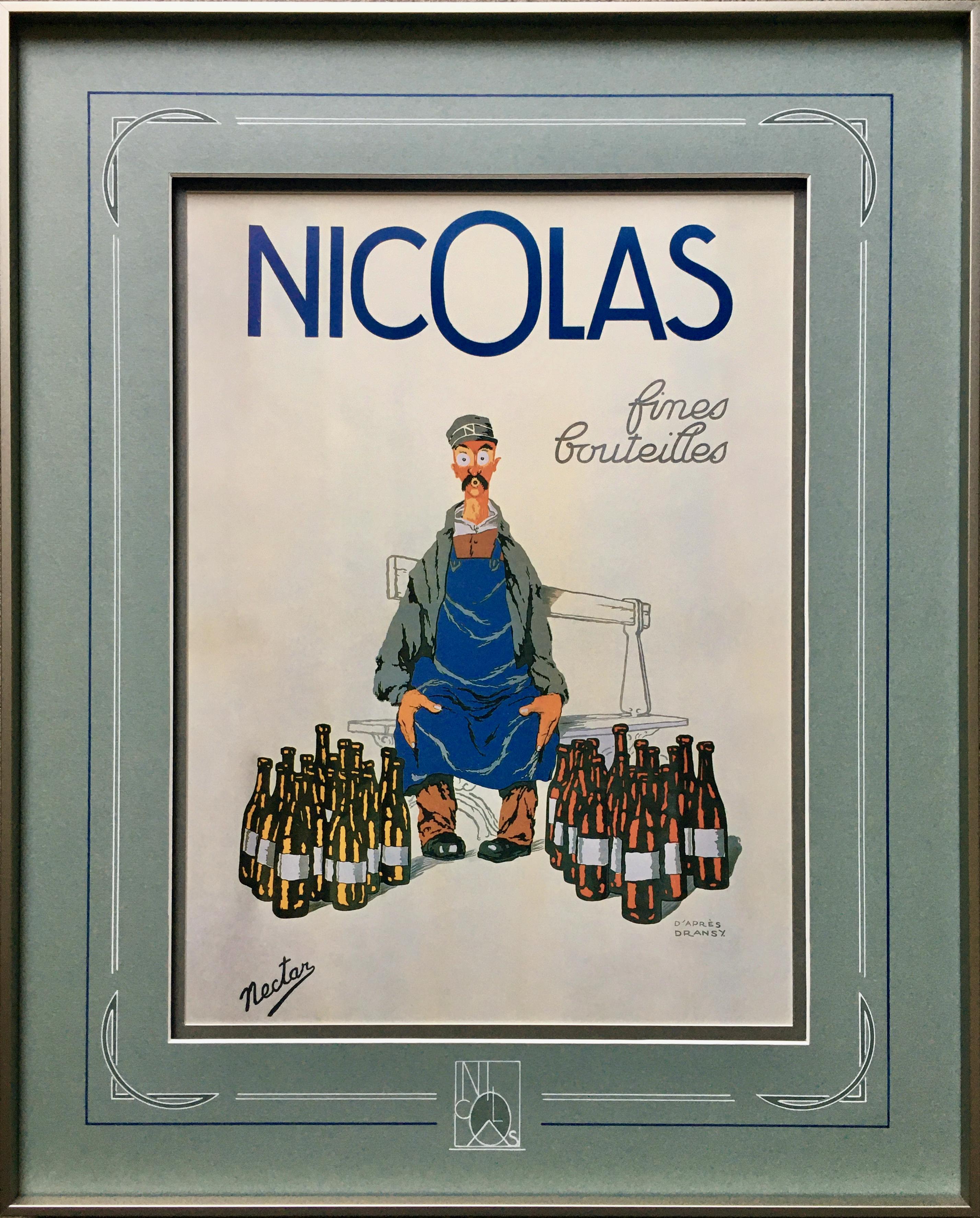 Vin Nicolas, 1924, Série de 3 cadres