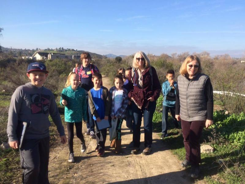 hiking with ED irver trail