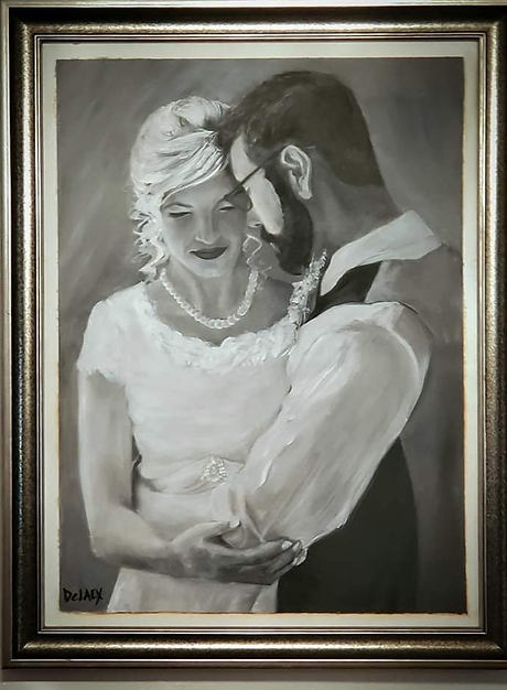 Custom B&W Wedding Portrait