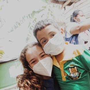 Ismael & Marianna during the clothing drive