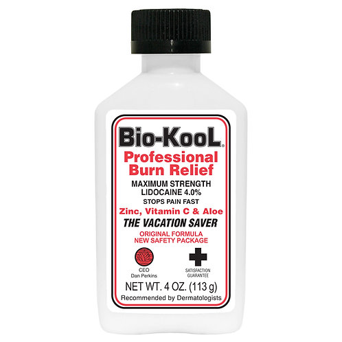 Maximum Strength Bio-KooL, 4.0% Lidocaine Numbing Cream (4 oz)