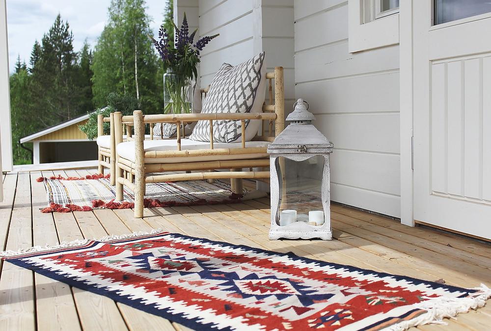 décoration tapis extérieur terrasse ou balcon