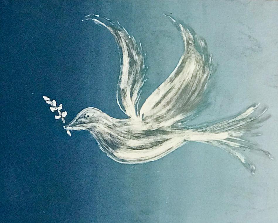 Dove of Peace, Monotype