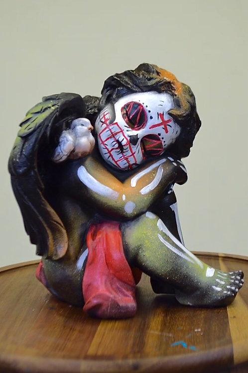 """""""Thoughtful cherub """" sculpture"""