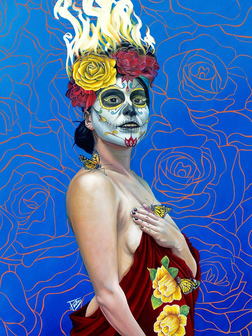 "ORIGINAL ""Catrina"", 36""X48"" oil painting"