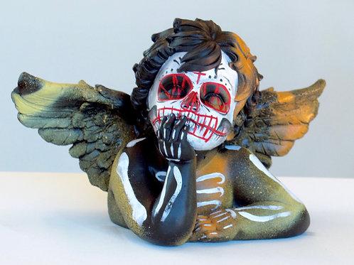 Angel stone sculpture
